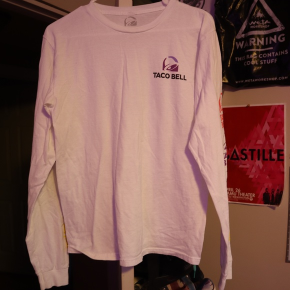 d2530e68f Shirts | Taco Bell Themed Longsleeve Mens Tee | Poshmark